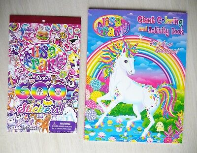 LISA FRANK GIANT Coloring Book Art Adult Therapy Unicorn + ...