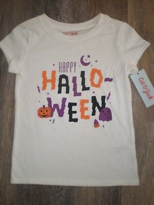 Girls Halloween Shirt Cat & Jack Size XS 4/5 S 6/6X M 7/8 L 10/12 XL 14/16 NEW