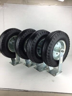 Lot Of 4 TIRES 4.10/3.50-6 WHEEL Ridgid CASTER FRAME Load Cap 450 Lbs Per Tire