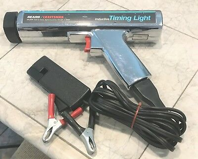 Sears Craftsman Chrome Inductive Timing Light 161.2134 W/ Leads EXPEDITED SHIP!!