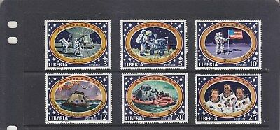 LIBERIA-1971-APOLLO 14 MOON LANDING SET-SG 843-8-CTO-NO HINGE-$4-freepost