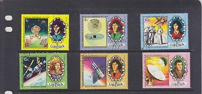 LIBERIA-1973-COPERNICUS 500th BIRTH ANNIV SET-SG 961-6-CTO-NO HINGE-$5-freepost