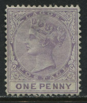 Lagos 1876 1d lilac unused no gum