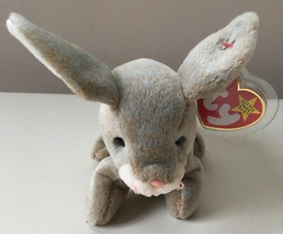 Ty Beanie Baby NIBBLY Rabbit. Retired. New. May 7, 1998. Mint. With Errors.