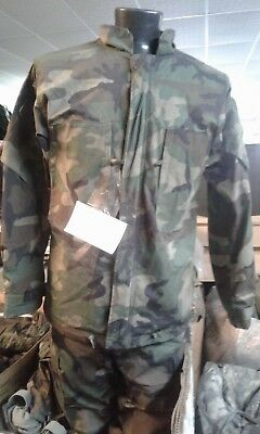 USGI ARMY HAZMAT Cold Weather Chemical Suit Woodland Camo Size Med 39-42