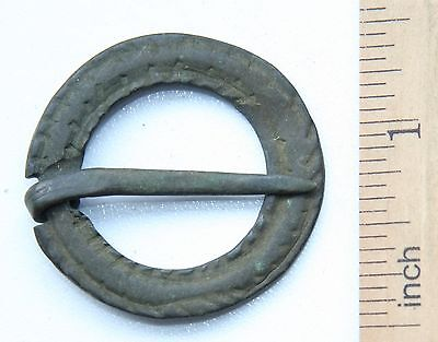 Ancient Old Ornament Bronze Fibula Brooch (JCR02)