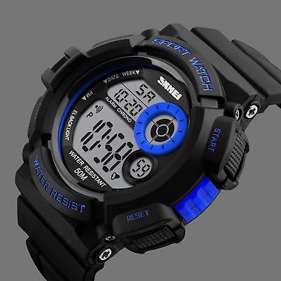 Digital Sports Mens Watch, SKMEI LED Screen Large Face Military Electronic Light
