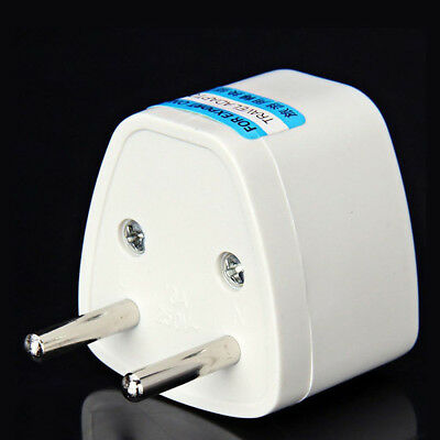 UK US AU to EU Travel Charger Power Adapter Converter Wall Plug Home White
