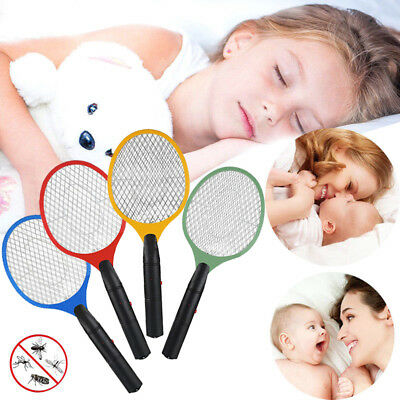 Electric Fly Insect Racket Zapper Killer Swatter Bug Mosquito Wasp Electronic 1X