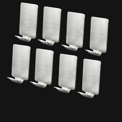 5pcs Self-Adhesive Stainless Steel Hooks Strong Sticky Stick Wall Door Hooks NE8