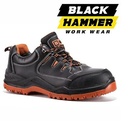 Mens Leather Waterproof Ultra Lightweight Safety Trainer Toe Cap Hiker Work Shoe
