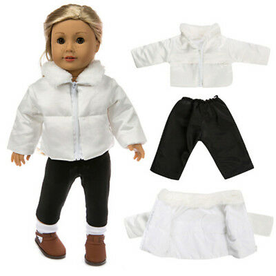Doll Clothes Fit 18in  Doll baby Warm Jackets+Pants Kids Gift