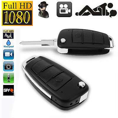 HD 1080P Spy Camera Car Key Chain Hidden DVR Audio Recording IR Night Vision