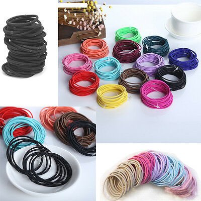 100pcs Snagless Hair Tie / Hair Band / Hair Elastic / Ponytailer School E Dylj