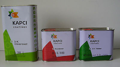 KAPCI 2K LACQUER KIT 1.8 LITRE / CLEAR LACQUER, ACTIVATOR AND THINNERS clearcoat