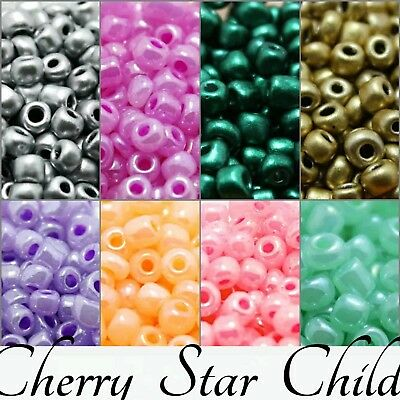 100 X Pcs 4mm 6/0 Round Czech Glass Seed Spacer Beads pearlized frosted finish