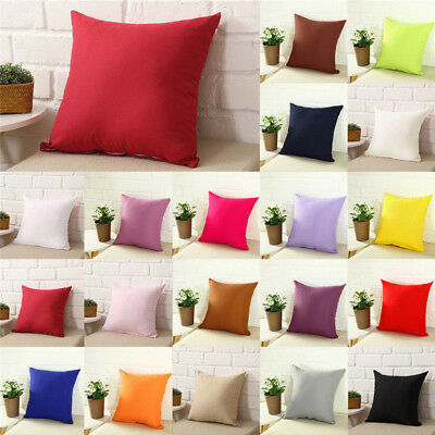 Home, Furniture & DIY Modern Soft Home Plain Throw Cushion Cover Rome Decor Sofa Waist Pillow Case New