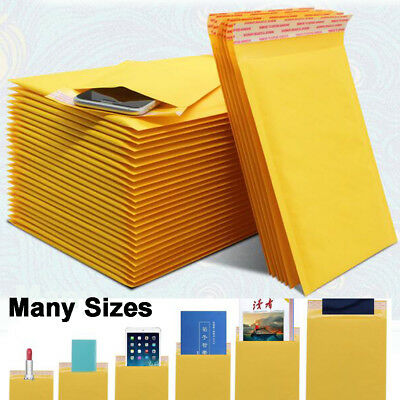 10Pcs 25*30cm/13*16cm Kraft Bubble Padded Envelopes Mailers Shipping GIFTS Case