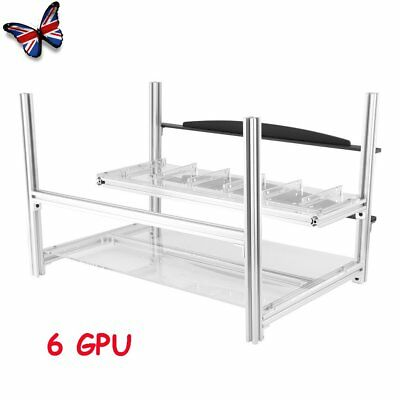 For 6 GPU ETH BTC Ethereum Crypto Coin Open Air Mining Rig Frame Miner Case UK
