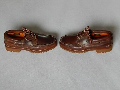 Timberland Classic 3 Eye Lug Mens Brown Leather Boat Deck Shoes 30003, Uk 8.5 W