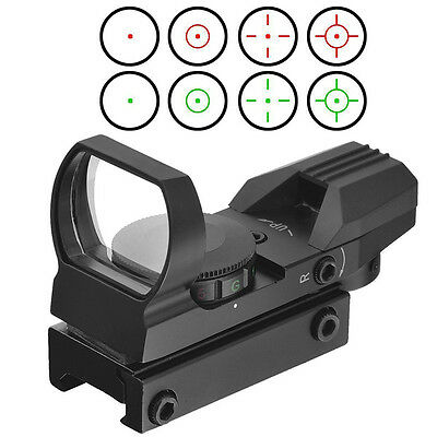 Optics Compact Reflex Red Green Dot Sight Scope 4 Reticle for Hunting DESF