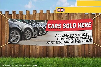 Cars Sold Here All Makes Models Heavy Duty PVC Banner Sign 3628