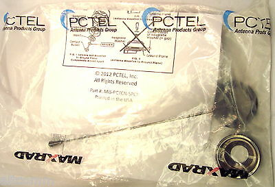 PCTEL Antenna 430-470MHz 150Watts Unity Gain Chrome Nut Factory Tuned to 450MHz