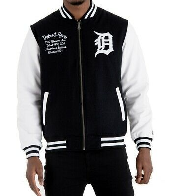 New Era Varsity College Jacke Detroit Tigers Post Grad Pack black