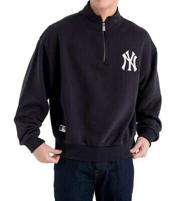 New Era Half-Zip Turtle Crewneck New York Yankees navy