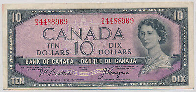 Bank Of Canada Devils Face 10 Dollars 1954 Gd4488969 - F