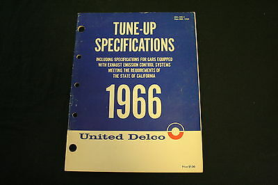 United Delco 1966 Tune-Up Specifications (Manual)
