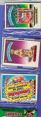 One Vintage 1986 Topps Garbage Pail Kids Series 4 Rack Pack Gpk 24 Stickers