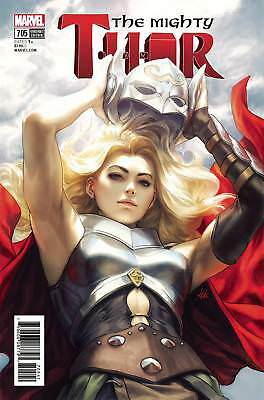 Mighty Thor #705 Marvel Comics 2018 Stanley Lau Artgerm Variant Cover Death of
