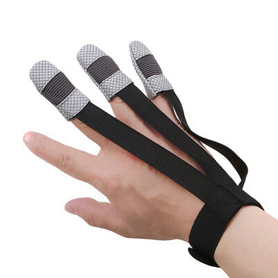 Archery Protective 3 Finger Gloves Guard Gear Cow Leather Hunting Shooting D