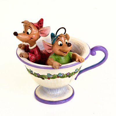 "Enesco Disney Traditions by Jim Shore ""Cinderella"" Jaq and Gus Teacup Stone"