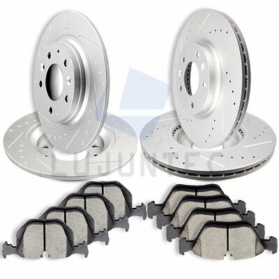 Front Rear Brake Discs Rotors & Ceramic Pads For 2006 2007 2008 2009 Ford Fusion