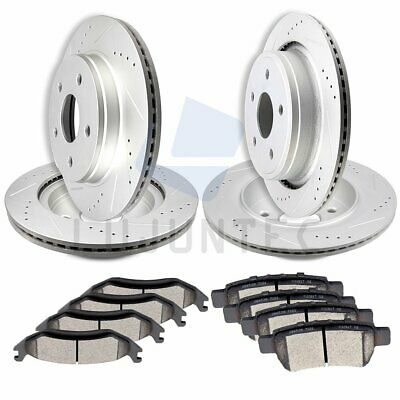 Front and Rear Brake Discs Rotors & Ceramic Pads For 2006-2010 Dodge Ram 1500