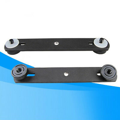Metal Bracket Mount Holder Flash 1/4'' Screw For Camera Rubber pad 15CM Sale