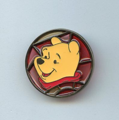 JDS Japan Disney Store Winnie the Pooh Stained Glass Pin 2003