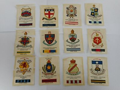 Twelve Vintage Wills 1915 Australian School / College Crests