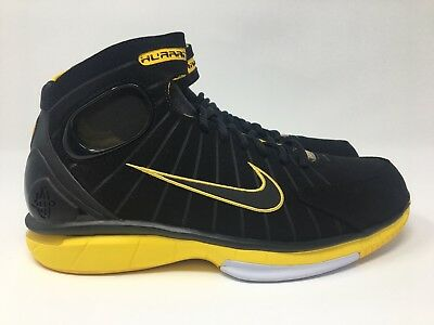 competitive price a5dd4 37a70 NIKE AIR ZOOM Huarache 2K4 Black Yellow Maize Kobe (308475 003) size 10  Mens New