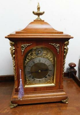 good quality walnut cased ting tang bracket clock c1900s by winterhalder