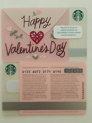 Mexico - Starbucks Card - Happy Valentines Day 2017  - 6133