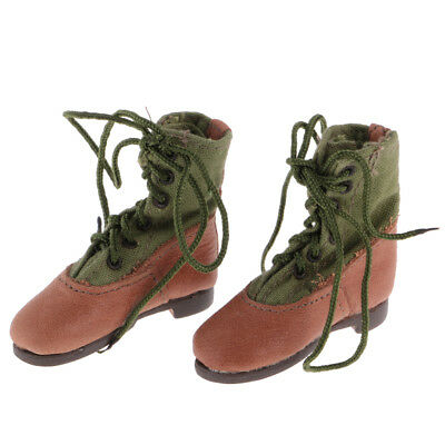 1/6 Green Military Army Combat Boots For 12 Inch Male Hot Toys Action Figure