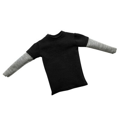 1/6 Clothes Black T-shirt For 12 inch Hot Toys Sideshow Enterbay Figure