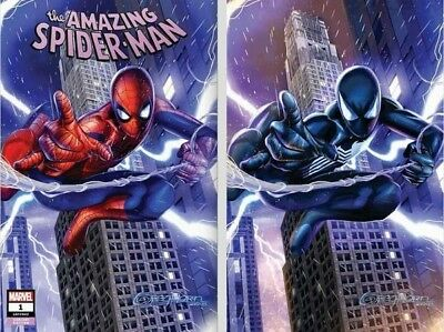 AMAZING SPIDERMAN 1 vol 5 2018 GREG HORN A & B VIRGIN VARIANT 2 PACK SET NM