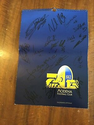 Calendario Ufficiale Modena FC Football Club Autografato 2013