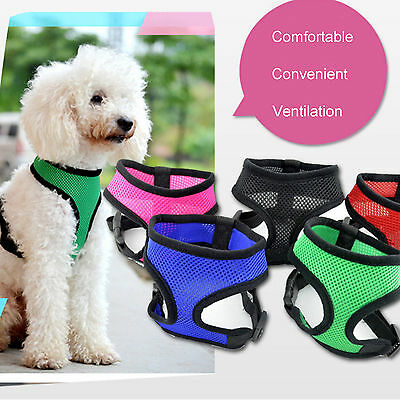 Pet Control Harness for Dog & Cat Soft Mesh Walk Collar Safety Strap Vest S-XL
