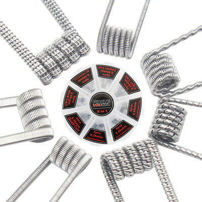 48Pcs Pre Built Coils RTA RDA Flat Twisted Fused Clapton Quad Hive Alien XUF