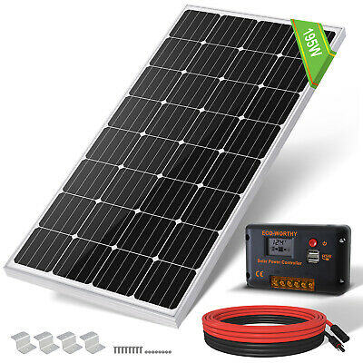 250W Portable 12V Solar Panel kit 20A LCD Controller 12V Caravan RV Power Charge